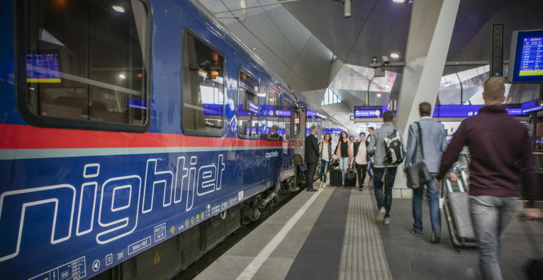 Der ÖBB Nightjet in Aktion