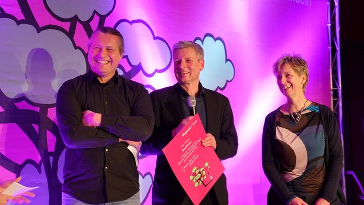 TUN-Fonds-Award von Magenta: Franz Fischler, Award, OurPower, Josefbus, Walleczek, Bierwirth, Telekom, Nachhaltigkeit, nachhaltig