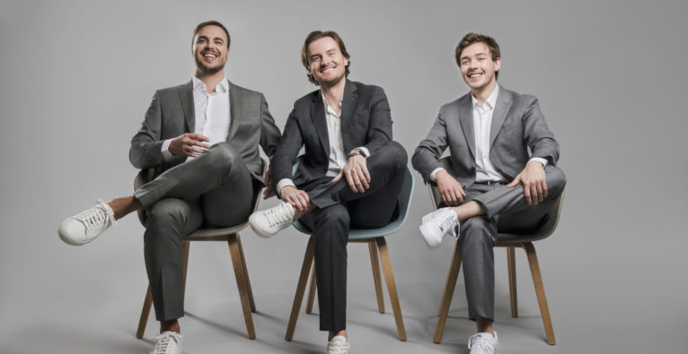 Bitpanda: Die Gründer (vl.) Paul Klanschek, Eric Demuth, Christian Trummer - Speedinvest, Uniqa Ventures, Raiffeisenbank International (RBI)
