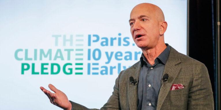 Jeff Bezos, CEO von Amazon, spricht über den Klimawandel