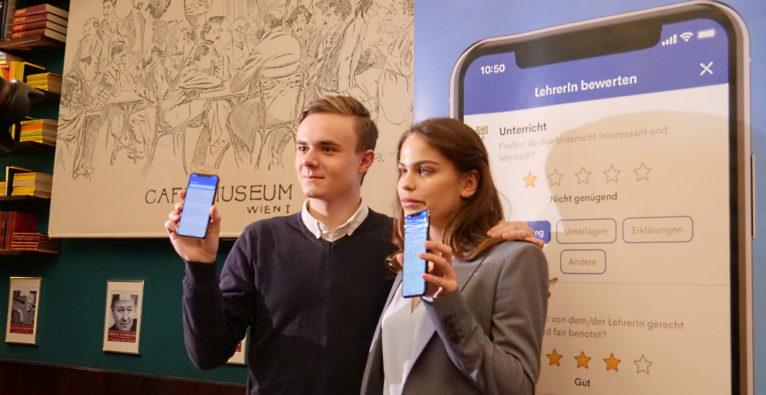 Lernsieg-Gründer Benjamin Hadrigan und Investorin Carmen Schnedl - Investment für Lernsieg