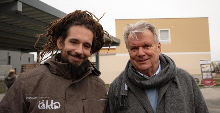 öKlo: CEO Niko Bogianzidis mit Investor Hans Peter Haselsteiner