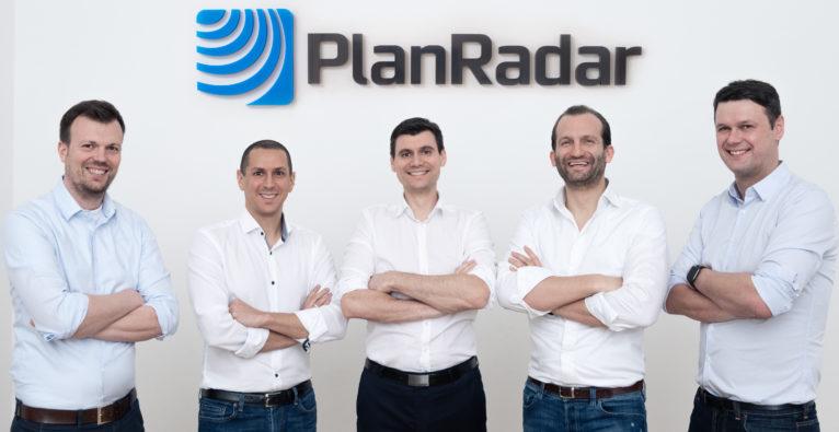 PlanRadar: Die fünf Gründer (vl.) Clemens Hammerl, Ibrahim Imam, Domagoj Dolinsek, Sander van de Rijdt, Constantin Köck