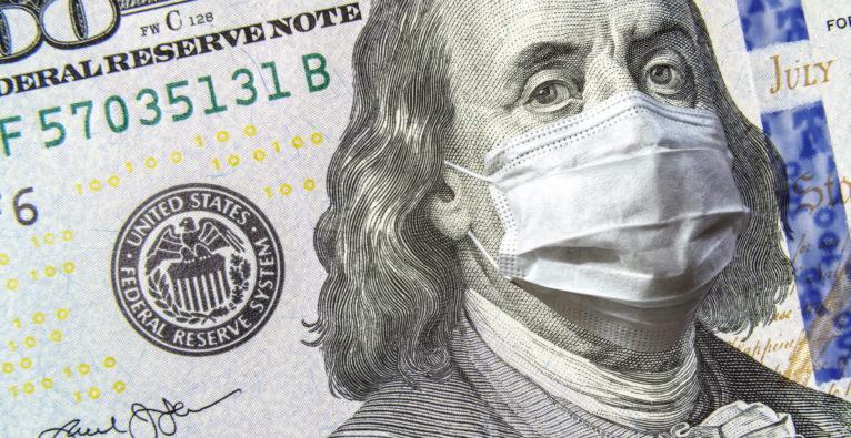 Coronavirus-Kurve in den USA - Wirtschafts-Krise und BIP-Schrumpfung