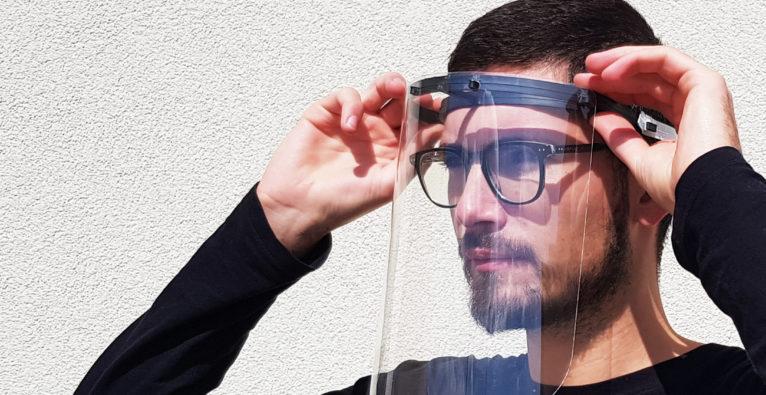 plasticpreneur: So sehen die Coronavirus-Face Shields aus Plastikmüll des Startups aus