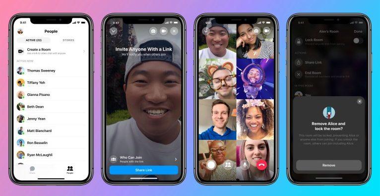Rooms - Massen-Video-Chat verbindet Facebook, nstagram und Whatsapp