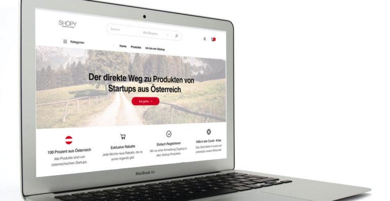 shöpy von Horus-Co-Founder Christian Pittner - Online-Shop nur für Produkte österreichischer Startups