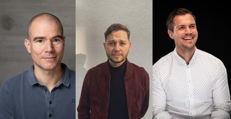 Die Initiatoren der Austrian Digital Alliance: Ralph Harreiter (Parkside), Thomas Ragger (Wild) und Florian Wassel (TOWA). (c) Parkside / Wild / Studio Fasching