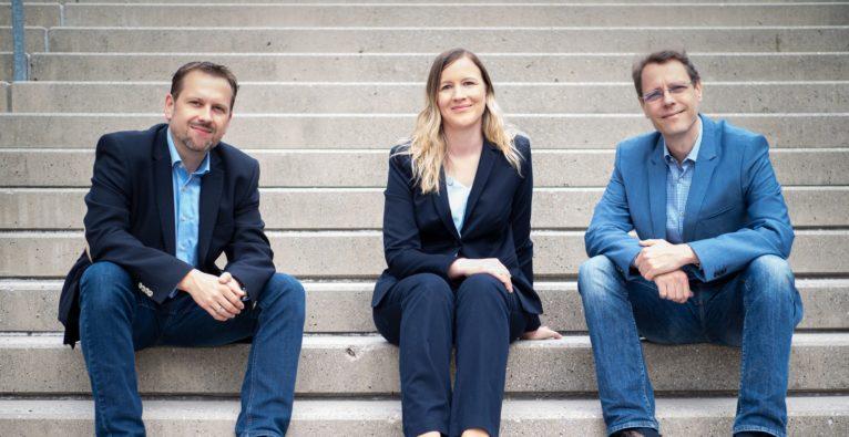 Das Seven Bel-Kernteam bestehend aus Michael Andessner, Barbara Rittenschober und Thomas Rittenschober - Investment durch eQventure