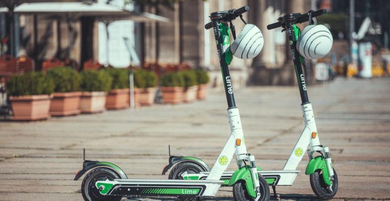 E-Roller von Lime in Wien