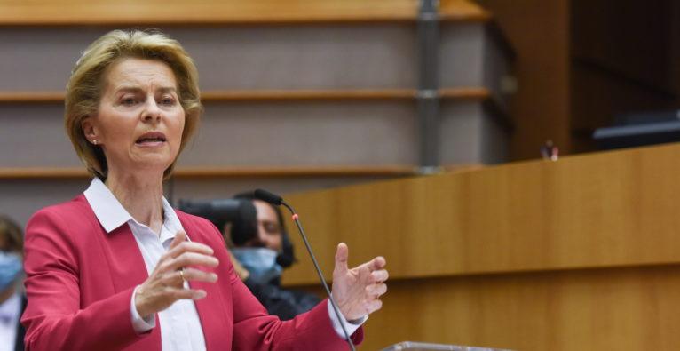 EU Kommissionspräsidentin Ursula von der Leyen präsentiert Next Generation EU