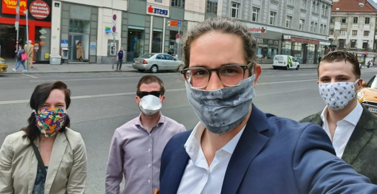 """Das Gründungsteam von """"Helpsole""""."""