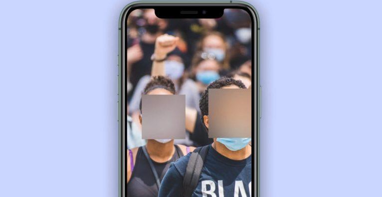 Signal, Blur-App, Verwischen, Unkenntlich, Black Lives Matter, Moxi, Demonstration, Proteste,