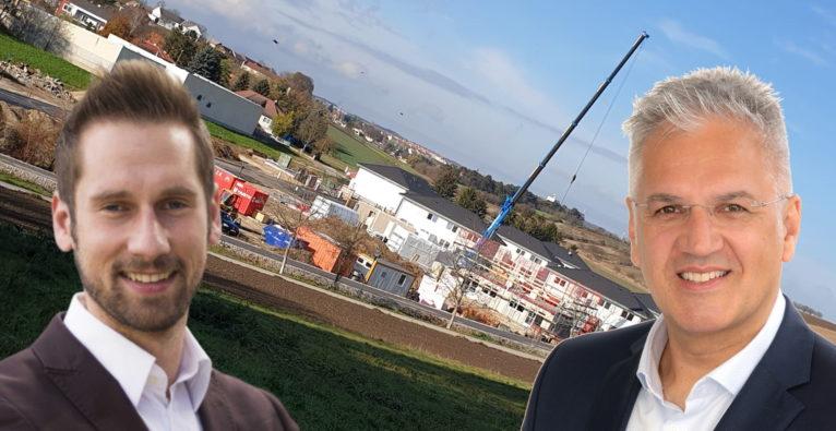 RECrowd / Conda: Hintergrund: Das erste Projekt in Bad Pirawarth, Im Vordergrund Conda-Gründer Daniel Horak und RECrowd-Geschäftsführer Kurt Praszl