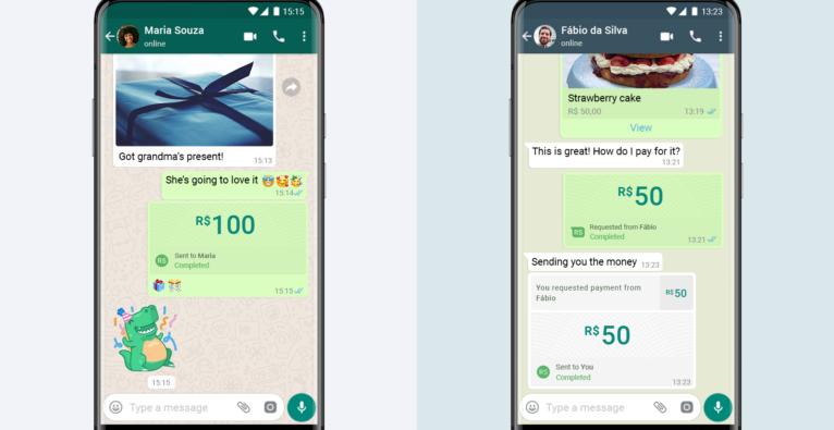 WhatsApp: Die neue Zahlungsfunktion ist direkt in den Chat intergriert und basiert auf Facebook Pay