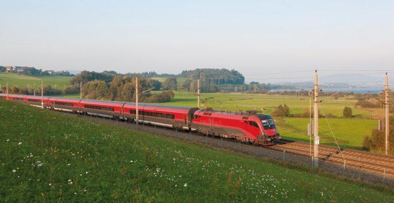 Railjet in der Landschaft: Braucht Network Slicing