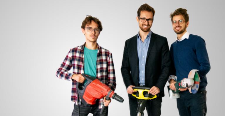 v.l.n.r.: Rostyslav Yavorskyi (CTO), Alexander Manafi (CEO), Benjamin Petterle (CPO) Copyright: ToolSense GmbH