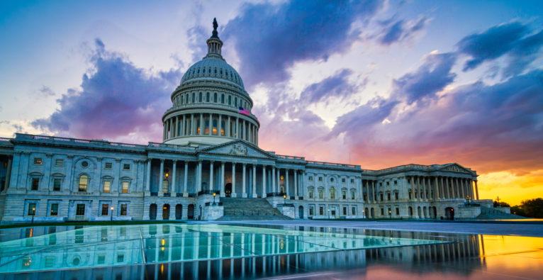 Die Abgeordneten im Capitol in Washington befragen heute die Chefs von Amazon, Apple, Google und Facebook zum Thema Marktmacht - allerdings per Video-Konferenz