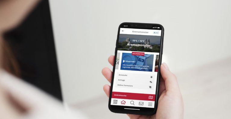 Mit der Gem2Go-App kann man dank Bluecode nun auch kontaktlos bezahlen.