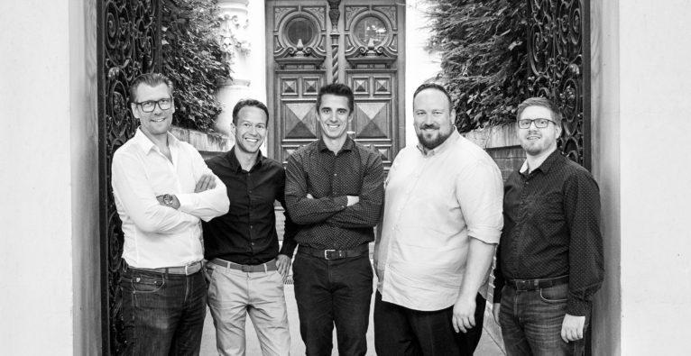 Jentis: Das Gründungsteam v.l.n.r. Klaus Müller, Robert Nachbargauer, Walter Parigger, Thomas Tauchner, Christian Kletzander