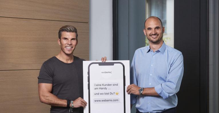 Investor Florian Gschwandtner und Christian Waldheim, CEO bei websms.