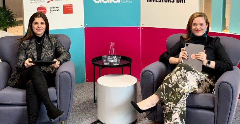 Laura Egg und Lisa Fassl führten durch den Investors Day 2020.