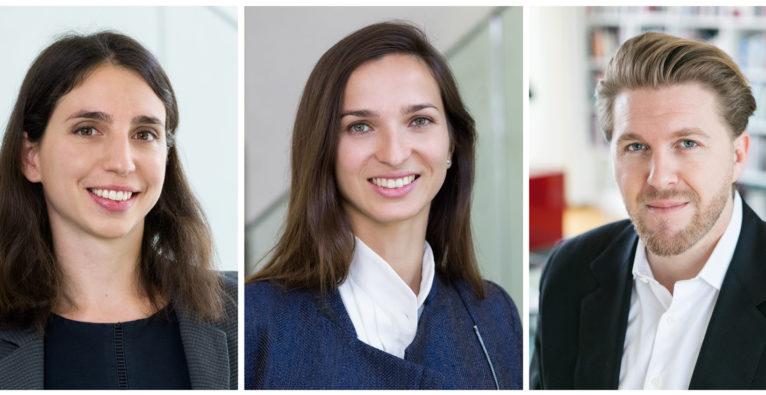 Gaia Capital Partners: Die Gründerinnen Alice Albizzati und Elina Berrebi mit Robin Haak, General Partner für den DACH-Raum, der hier Growth-Investments tätigen will