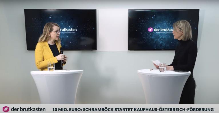 Margarete Schramböck über die E-Commerce-Förderung via