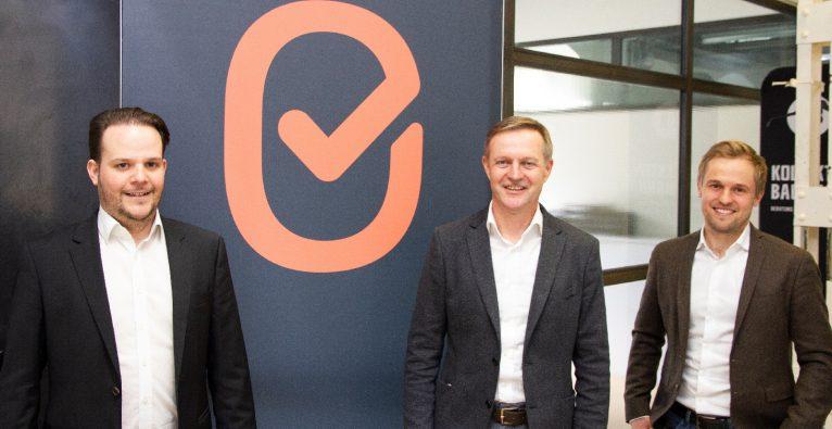 ImmoCheckout - v.l.n.r.: Gründer Benjamin Speckbacher, Investor Thomas Bachmaier, Gründer Stefan Schiessl