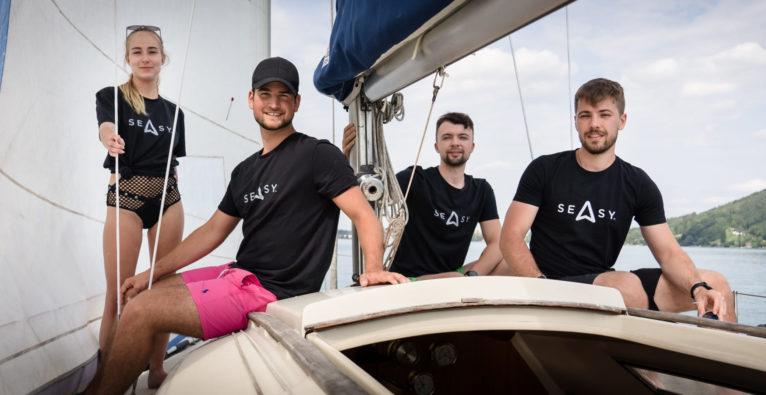 Seasy: Das Team (vlnr.) Ivana Zemanovicova, Geschäftsführer Daniel Baumgartner, Niklas Machacek und Martin Olsansky