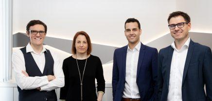 Employee: The management team CTO Stefan Stift, COO Christine Geier, CEO Benjamin Schwärzler and CSO Martin Schober