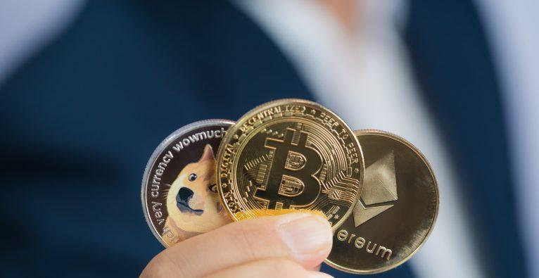 Dogecoin, Bitcoin und Ethereum