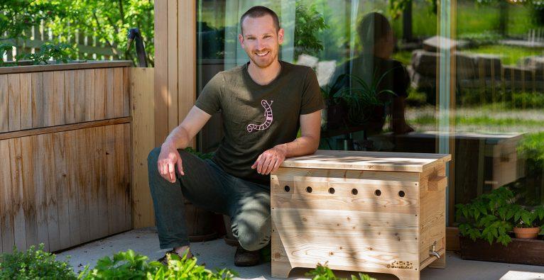 David Witzeneder hat Wormsystems gegründet, das Startup hinter der Wurmkiste © Wormsystems