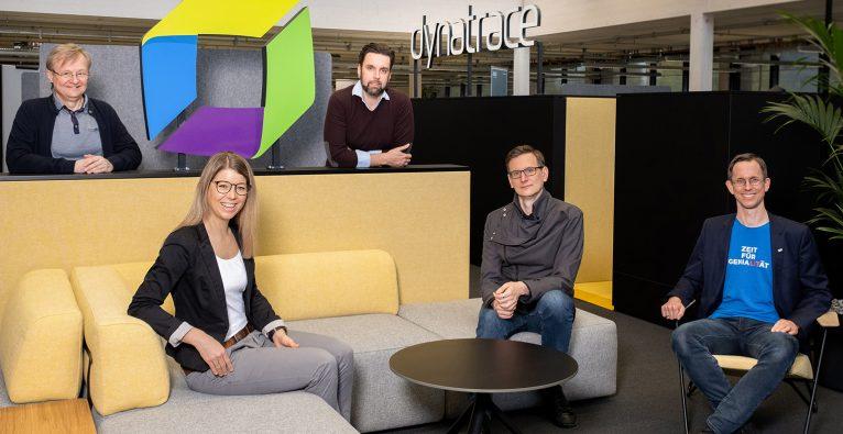 Das Team des Co-Innovation Labs von Dynatrace und JKU Linz © Ines Thomsen
