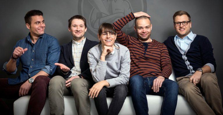 v.l.n.r.: Die Propster-Co-Founder Klaus Kainrad, Alexey Loginov, Isabelle Schall, Viktor Demianenko und CEO und Founder Milan Zahradnik