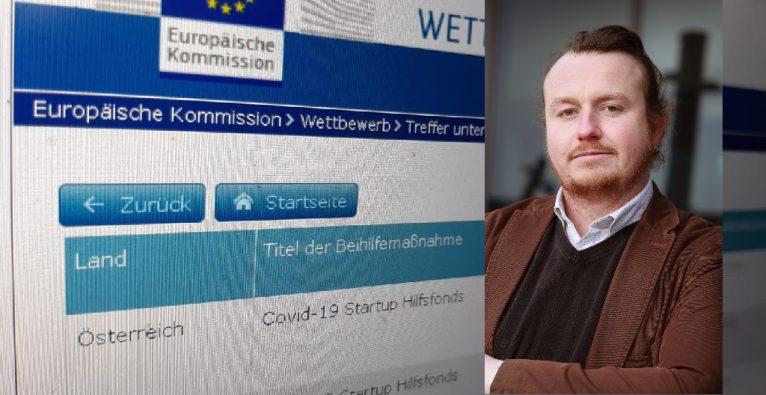 Die Transparenzdatenbank der EU zeigt 26 Covid-Startup-Hilfsfonds-Bezieher, die mehr als 500.000 Euro erhielten
