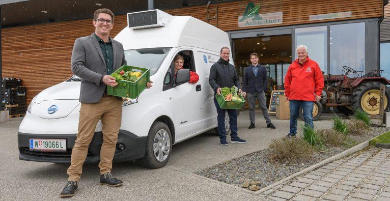Die neuen E-Vans vom Biohof Achleitner sollen emissionsfrei fahren © Simlinger/Schachinger Logistik