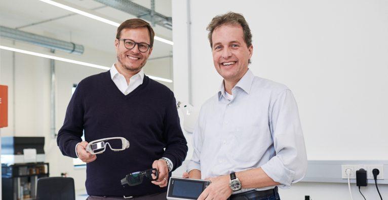 Viewpointsystem Gründer und CEO Nils Berger mit CTO Frank Linsenmaier