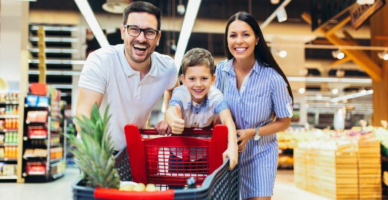 Supermarkt Familie
