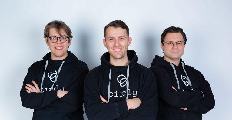 Eric Weisz (Mitte) mit seinen Co-Foundern von Circly © Circly