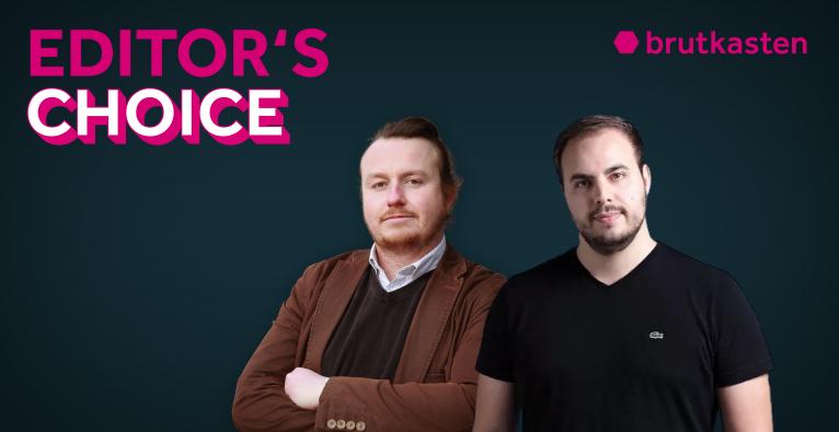 Bitpanda-Co-Founder Paul Klanschek (r.) im brutkasten-Podcast Editor's Choice mit Redakteur Dominik Perlaki (l.)