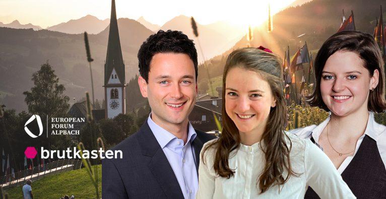 Dejan Jovicevic, Anna Pölzl und Dominica Schmid-Schmidsfelden präsentieren