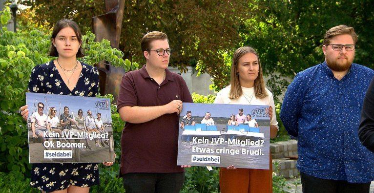 JVP Burgenland: Etwas cringe Brudi