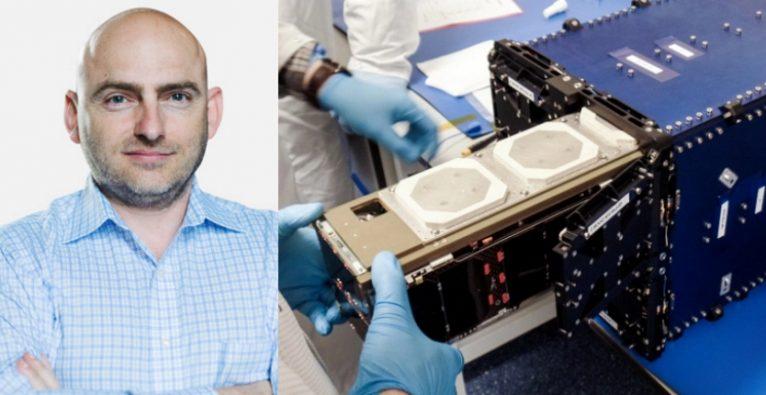 Spire Global: Co-Founder & CEO Peter Platzer und einer der Nanosatelliten