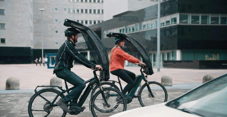 Bikertop, BikerTop, Regenschutz Fahrrad, Schutzschild Rad,