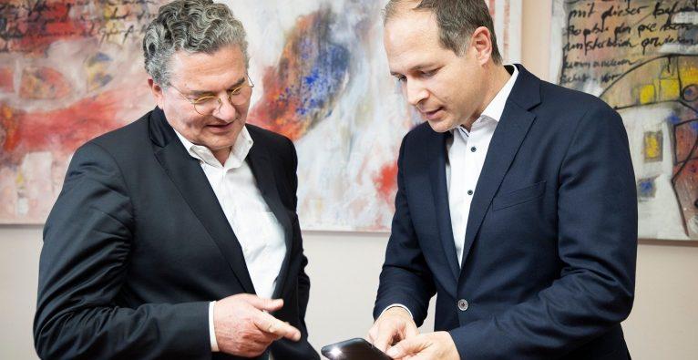 Stefan Liechtenstein, GF Valnon Holding + Michael Tripolt, Gründer medaia GmbH und Dermatologe