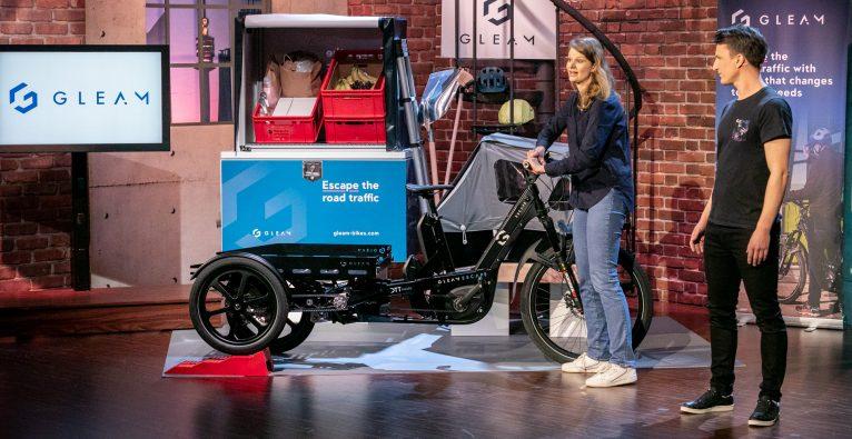 2 MInuten 2 Millionen, Cargo-Bike, Gleam-Bike, Gleam Technology, Lastenfahrrad