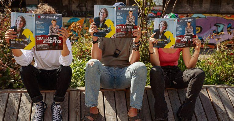 Brutkasten kommt zweimal jährlich auch als Print-Magazin © brutkasten/schauer-burkart