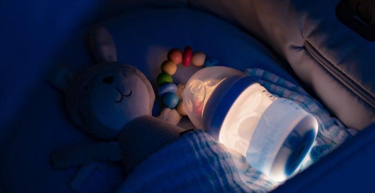 bumpli, Nachtlicht, Nachtlicht für Fläschchen, Flaschen-Licht, Nachtlicht für Kinderflaschen, Kinderflasche, Pop it,