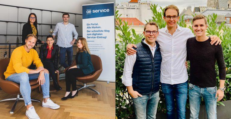 Das OE Service-Team (l.) und die Prescreen-Gründer (r.)